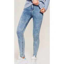 Jeansy high waist skinny - Niebieski. Niebieskie boyfriendy damskie House, z jeansu. Za 79,99 zł.