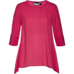 Tunika bluzkowa z dłuższymi bokami bonprix czerwień granatu. Czerwone tuniki damskie bonprix. Za 37,99 zł.