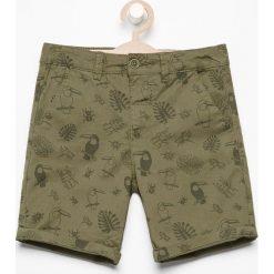 Spodenki chłopięce: Szorty z egzotycznym nadrukiem – Khaki