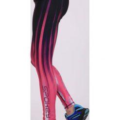Spodnie dresowe damskie: Spokey Spodnie fitness Hay czarno-różowe r.L