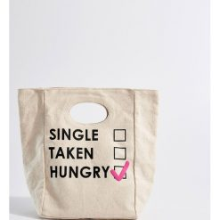 Bawełniana torba na lunch - Kremowy. Białe torebki klasyczne damskie Mohito, z bawełny. Za 34,99 zł.