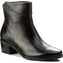 Botki CAPRICE - 9-25323-29 Black Nappa 022. Czarne botki damskie na obcasie marki Caprice, ze skóry. W wyprzedaży za 249,00 zł.