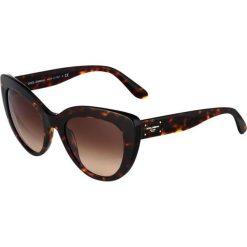 Dolce&Gabbana Okulary przeciwsłoneczne brown. Brązowe okulary przeciwsłoneczne damskie lenonki marki Dolce&Gabbana. Za 959,00 zł.