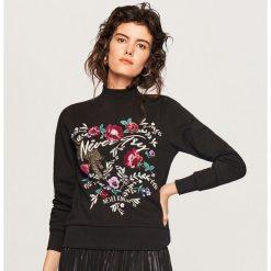 Bluza ze stójką - Czarny. Czarne bluzy damskie Reserved, l. W wyprzedaży za 29,99 zł.