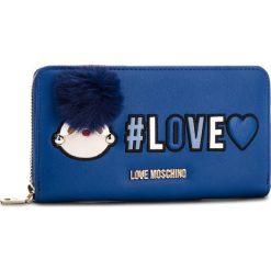Duży Portfel Damski LOVE MOSCHINO - JC5536PP16LK0750 Blu. Niebieskie portfele damskie Love Moschino, ze skóry ekologicznej. Za 439,00 zł.