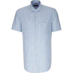 Koszule męskie na spinki: Koszula – Modern fit – w kolorze biało-turkusowo-niebieskim