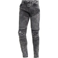 Topman ACID RIP BIKER SPRAY Jeans Skinny Fit black. Czarne jeansy męskie relaxed fit marki Topman. W wyprzedaży za 269,10 zł.
