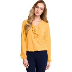 Bluzki, topy, tuniki: Bluzka z żabotem - żółta