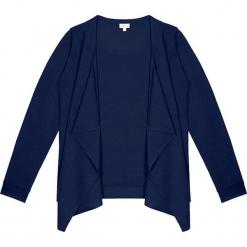 Sweter kaszmirowy 2w1 w kolorze granatowym. Niebieskie kardigany damskie marki Ateliers de la Maille, z kaszmiru. W wyprzedaży za 591,95 zł.