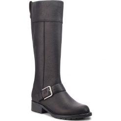 Oficerki CLARKS - Orinoco Jazz 261381964  Black Warmlined Leather. Czarne buty zimowe damskie Clarks, ze skóry, przed kolano, na wysokim obcasie. Za 629,00 zł.