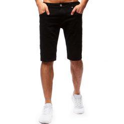 Spodenki i szorty męskie: Spodenki męskie jeansowe czarne (sx0664)
