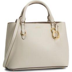 Torebka LAUREN RALPH LAUREN - Bennington 431693831011 Vanilla/Porcini. Białe torebki klasyczne damskie Lauren Ralph Lauren, ze skóry, zdobione. Za 1299,00 zł.