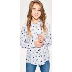 Bluzki dziewczęce: Prążkowana koszula z nadrukiem - Niebieski