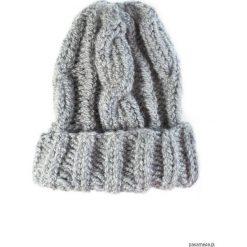 Czapki zimowe damskie: Ręcznie robiona czapka w warkocze