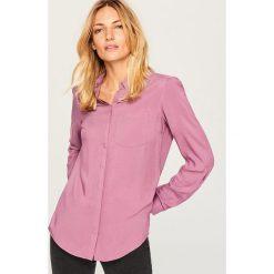 Koszula z kieszonką piersiową - Fioletowy. Fioletowe koszule damskie marki DOMYOS, l, z bawełny. Za 69,99 zł.