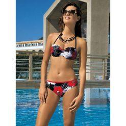Stroje kąpielowe damskie: Bikini w kolorze czarno-czerwono-białym