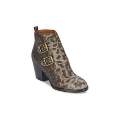 Botki Marc by Marc Jacobs  BUCKLE BOOT ANKLE BOOT HEEL. Szare botki damskie Marc by Marc Jacobs. Za 1378,30 zł.