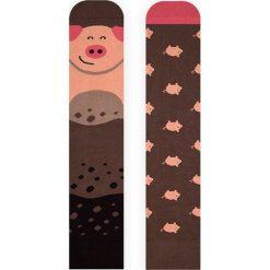 Nanushki - Skarpetki Piggy. Brązowe skarpetki damskie Nanushki, z bawełny. Za 25,90 zł.