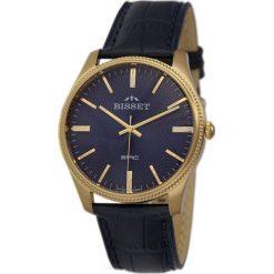 Zegarek Bisset Męski Klasyczny  BSCE55 GIDX 05BX czarny. Czarne zegarki męskie Bisset. Za 365,99 zł.