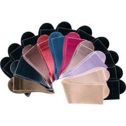 Skarpetki damskie: Skarpetki damskie Big box (20 par) bonprix czarny+zielony khaki+brązowy+ciemnobrązowy+beżowy+wielbłądzia wełna+ciemnoczerwony+różowy+lila+bez