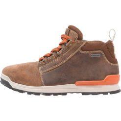 Ecco OREGON Buty trekkingowe brown. Brązowe buty trekkingowe męskie ecco, z materiału, outdoorowe. Za 659,00 zł.