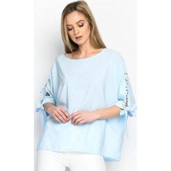 Jasnoniebieska Bluzka Cloudy Bay. Niebieskie bluzki na imprezę Born2be, m. Za 59,99 zł.