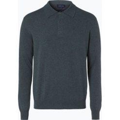 Swetry klasyczne męskie: Andrew James – Sweter męski z dodatkiem kaszmiru, zielony