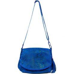 """Torebki klasyczne damskie: Skórzana torebka """"Maelie"""" w kolorze niebieskim – 29 x 24 x 8 cm"""