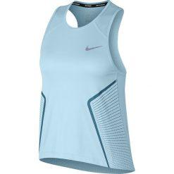 Koszulka do biegania damska NIKE DRY MILER TANK GX / 890341-452. Szare bluzki asymetryczne Nike, z materiału, na ramiączkach. Za 109,00 zł.