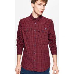 Koszula w drobną kratę - Granatowy. Niebieskie koszule męskie marki Cropp, l. Za 69,99 zł.
