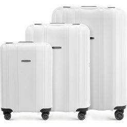 Zestaw walizek 56-3T-73S-88. Białe walizki marki Wittchen, duże. Za 722,61 zł.