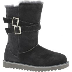 """Skórzane kozaki """"Huntspill Waterproof"""" w kolorze antracytowym. Szare buty zimowe damskie marki Marco Tozzi. W wyprzedaży za 343,95 zł."""