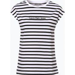 Calvin Klein Jeans - T-shirt damski, czarny. Czarne t-shirty damskie marki Calvin Klein Jeans, s, z haftami, z jeansu. Za 129,95 zł.