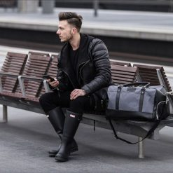 Torby podróżne: Męska torba sportowy styl Solier FRASER szary