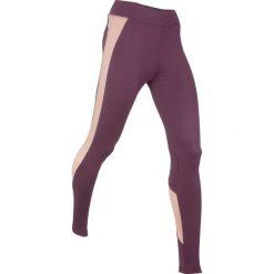 Legginsy sportowe wyszczuplające, długie, Level 2 bonprix czarny bez - matowy beżowy. Fioletowe legginsy sportowe damskie marki DOMYOS, l, z bawełny. Za 109,99 zł.