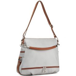 Torebka CREOLE - RBI215 J.Szary/J.Brąz. Szare torebki klasyczne damskie Creole, ze skóry. W wyprzedaży za 319,00 zł.
