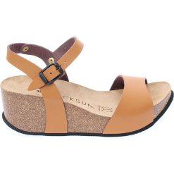 Buty damskie: Sandały w kolorze beżowym