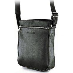 Torba na ramię saszetka BRODRENE Czarna. Czarne torby na ramię męskie marki Brødrene, w paski, ze skóry. Za 139,90 zł.
