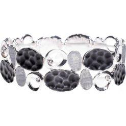 Bransoletki damskie: Czarna bransoletka z metalowych elementów QUIOSQUE