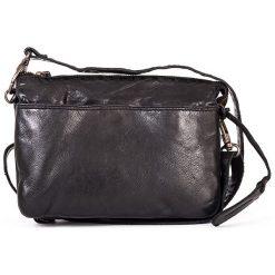 Torebki klasyczne damskie: Skórzana torebka w kolorze czarnym – 24 x 17 x 6 cm