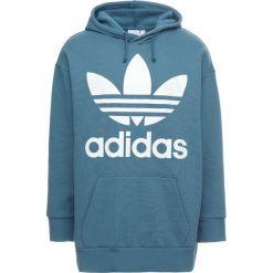 Adidas Originals TREF OVER HOOD Bluza z kapturem blablu. Szare bluzy męskie rozpinane marki adidas Originals, l, z nadrukiem, z bawełny, z kapturem. Za 379,00 zł.