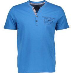 """T-shirty męskie z nadrukiem: Koszulka """"Henley"""" w kolorze niebieskim"""