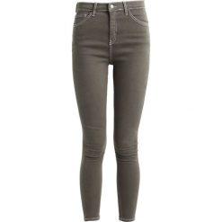 Topshop JAMIE Jeans Skinny Fit khaki. Brązowe rurki damskie Topshop. Za 229,00 zł.