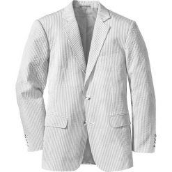 Marynarki męskie slim fit: Marynarka z kory Regular Fit bonprix oliwkowo-biały w paski