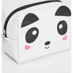 Kosmetyczki damskie: Kosmetyczka panda – Biały