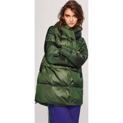 Pikowany płaszcz z naturalnym puchem - Khaki. Czarne płaszcze damskie puchowe marki FORCLAZ, m, z materiału. Za 349,99 zł.