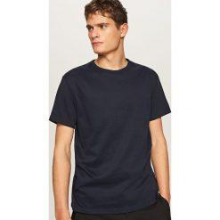 T-shirty męskie: Jednolity t-shirt – Granatowy