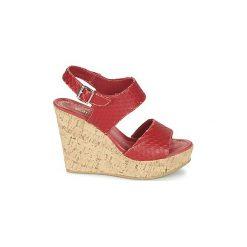 Sandały Samoa  RAZAC. Czerwone sandały damskie Samoa. Za 272,30 zł.