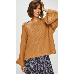 Answear - Sweter. Brązowe swetry oversize damskie ANSWEAR, l, z dzianiny. W wyprzedaży za 79,90 zł.