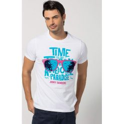 T-shirty męskie z nadrukiem: Koszulka w kolorze białym